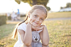 Happy child in a park Stock Image