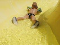 Happy child play on pool Stock Photos