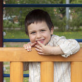 Happy child at playground Stock Image