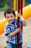 Happy  child at playground Royalty Free Stock Photography