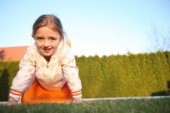Happy child playing Stock Image
