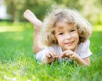 Happy child playing royalty free stock photos