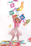 Happy child playing Royalty Free Stock Image