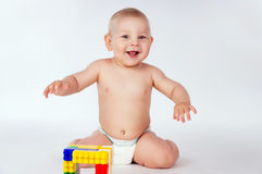 Happy child playing Stock Images