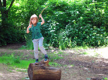 Happy child playing. Royalty Free Stock Images