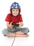 Happy child playing games Stock Photos