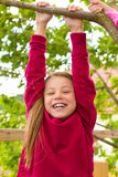 Happy child playing in the garden Royalty Free Stock Image