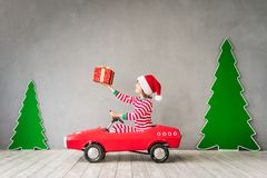 Happy child on Christmas eve Royalty Free Stock Photography