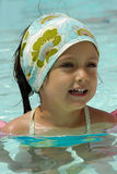 Happy child in pool Royalty Free Stock Photography
