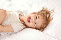 Happy child. Portrait of a beautiful liitle girl Royalty Free Stock Photo