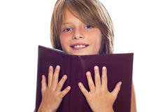 Happy Child Reading Book Stock Photography