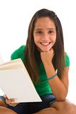 Happy child reading Royalty Free Stock Images