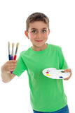 Happy child ready for art and craft Royalty Free Stock Images