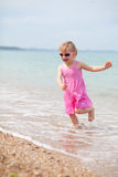 Happy child running Stock Photography