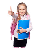 Happy Child with schoolbag Stock Photos