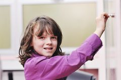 Happy child  in schoold have fun and learning Stock Images