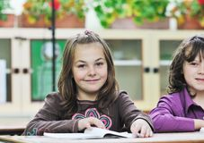 Happy child  in schoold have fun and learning Stock Photo