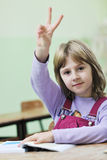 Happy child  in schoold have fun and learning Royalty Free Stock Photos
