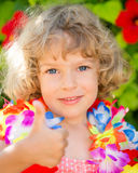 Happy child showing thumb up Royalty Free Stock Photo