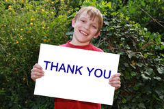 Happy child with sign stock images
