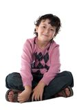 Happy child sitting Royalty Free Stock Images