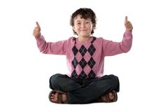 Happy child sitting Stock Images