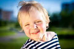 Happy child smiles Royalty Free Stock Photo