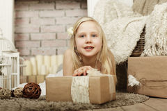Happy child, smiling girl Royalty Free Stock Images
