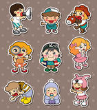 Happy child stickers Royalty Free Stock Images