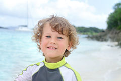 Happy Child Summer Beach and Ocean Fun Stock Images