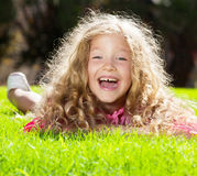 Happy child at summer Royalty Free Stock Photo