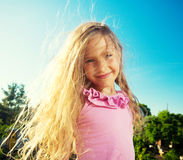 Happy child at summer Stock Image