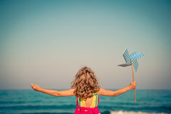 Happy child on summer vacation Royalty Free Stock Photos