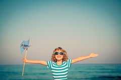 Happy child on summer vacation Royalty Free Stock Photography