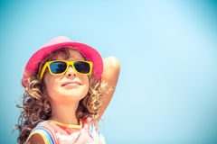 Happy child on summer vacation Stock Image