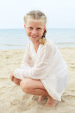 Happy child on summer vacation. Travel and adventure concept. Se Stock Photography