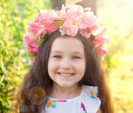 Happy child in the sunlight. Summer concept. Stock Photography