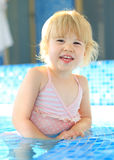 Happy child in swimming pool Stock Photography