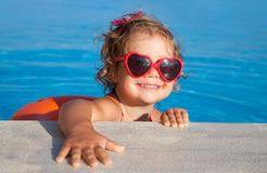 Happy Child Swimming Royalty Free Stock Photography