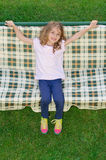 Happy child swing garden chair Royalty Free Stock Image