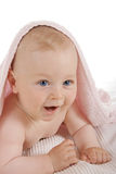 Happy child with  towel on  head Royalty Free Stock Image