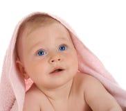 Happy child with  towel on  head Stock Photo