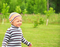 Happy child walking Stock Image