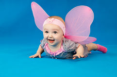 Happy child with wings Royalty Free Stock Image