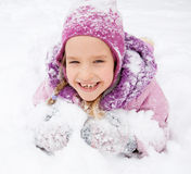 Happy child in winter Stock Photography