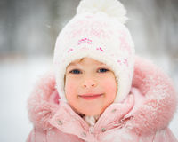 Happy child in winter Royalty Free Stock Photo