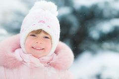 Happy child in winter Royalty Free Stock Photography