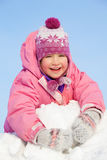Happy child in winter park Royalty Free Stock Photos
