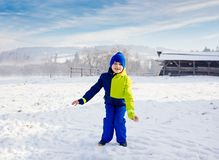 Happy child at winter. Stock Photos