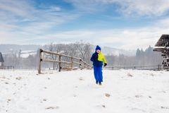Happy child at winter. Royalty Free Stock Photos